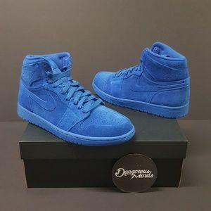 Jordan Shoes - Air Jordan 1 Retro High Blue Suede 724b134bb
